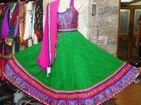 Green Chaniya Choli 14407