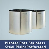 Planter Pots Stainless Steel Garbage Bin
