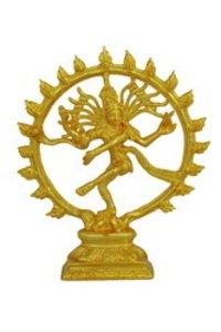 Gold Plated Natarajar Statue
