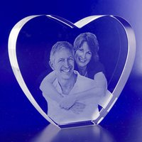 Heart Shaped Crystal Glass Wedding Gift