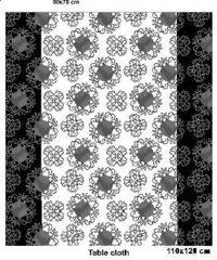 Black And White Xmas Table Cloth
