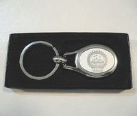 Metal Key Chain With Embossing