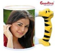 Animal Tiger Handle Mug