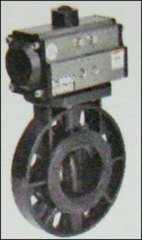Upvc Butterfly Valve With Pneumatic Rotary Actuator