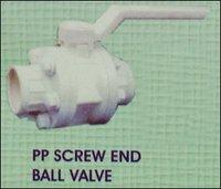 Pp Screw End Ball Valve in Kolkata