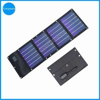 12w Amorphous Flexible Waterproof Solar Charger For Mobile Phone