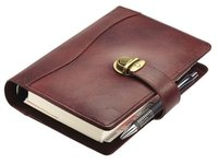 Leather File Folder With Diary
