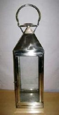 Fine Finish Shiny Stainless Steel Candle Lantern