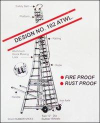 Aluminium Telescopic Tower Ladder (Design No. 102 ATWL)