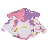 3-6 Months Baby Girl Pack Of 5 Bodysuits