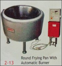 Commercial Round Frying Pan With Automatic Burner