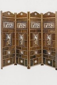 Wooden Inlaid Screen (Room Divider)