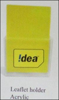 Leaflet Acrylic Holder