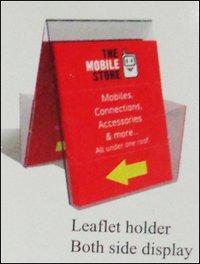 Leaflet Holder (Both Side Display)