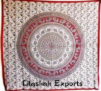 Cotton Bedspread Jaipuri Double Bedsheet Red Color Small Star Handlook