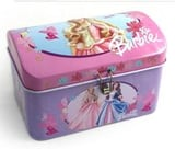 Kids Coin Tin Piggy Bank With Hinged Lid