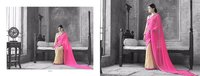 Designer Georgette Saree With Raw Silk Blouses