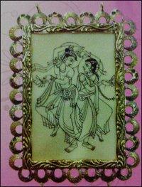 Radha Krishan Hand Brush Painting Frame