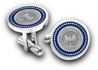Brass Metal Cufflink With Silver Rodium