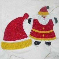 Beaded Coasters With Santa Design