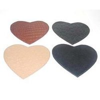 Heart Shaped Faux Leather Coaster