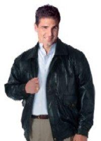 Black Leather Formal Jacket