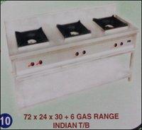 Indian T/B Gas Range