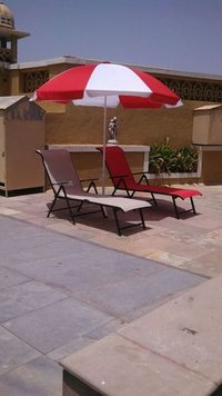 Swimming Pool Chair With Umbrella