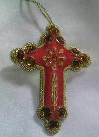 Cross Shaped Christmas Ornaments