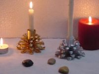 Aluminum Pine Cone Candle Holder