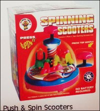 Push And Spin Scooters Toys