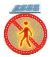 Solar Power Led Luminous Traffic Sign