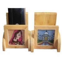 Painting Wooden Mobile Stand