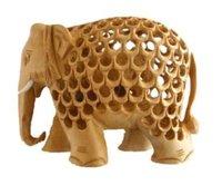 Wooden Jali Design Elephant