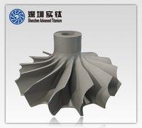 Titanium Alloy Investment Casting Turbine Wheel For Turbocharger Parts