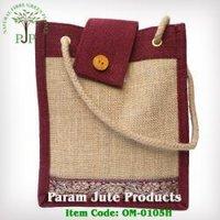 Jute Designer Bags (Om-0105h) in 24 Parganas (n)