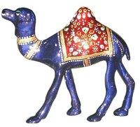 Metal Meena Kari Camel Figurine