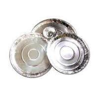 Silver Paper Dona Plates