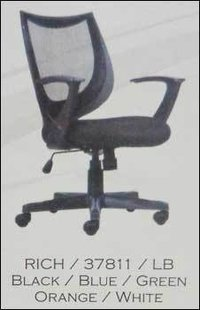 Black Mesh Revolving Office Chair