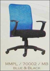 Medium Back Blue And Black Revolving Office Chair