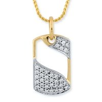 Men Diamond Pendant (Design No: Gp005y)