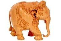 Wooden Elephant Idol