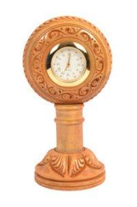 Wooden Pedestal Clock