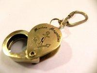 Anchor Magnify Brass Key Chain