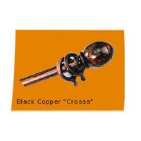 Black Copper Cross Curtain Rod