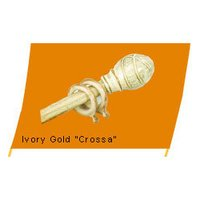 Ivory Gold Cross Curtain Rods