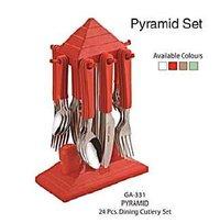 Pyramid Dining Cutlery Set (24 Pcs.)