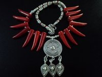 Coral Tooth Shape Tribal Necklace