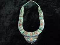 Nepalese Turquoise / Coral Unique Handmade Necklace