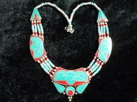 Tibetan Nepalese Unique Fashionable Turquoise / Coral Necklace